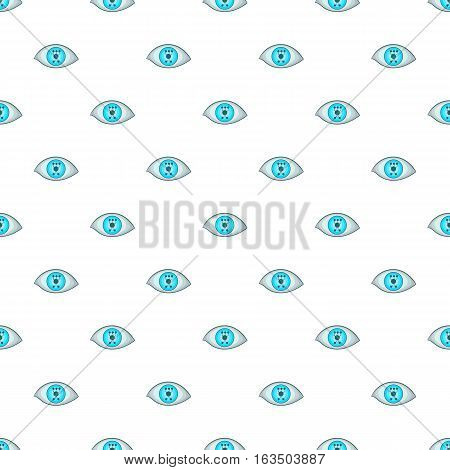 Eye pattern. Cartoon illustration of eye vector pattern for web