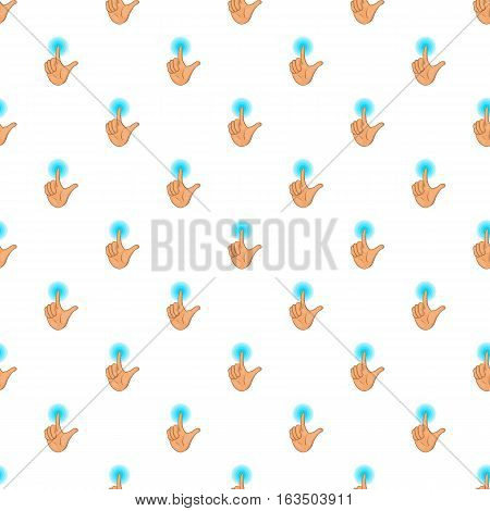 Human hand touch pattern. Cartoon illustration of human hand touch vector pattern for web