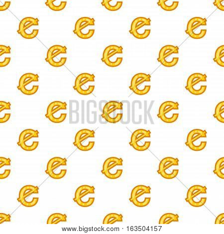 Cent currency symbol pattern. Cartoon illustration of cent currency symbol vector pattern for web
