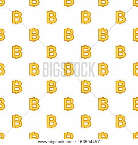 Baht currency symbol pattern. Cartoon illustration of baht currency symbol vector pattern for web