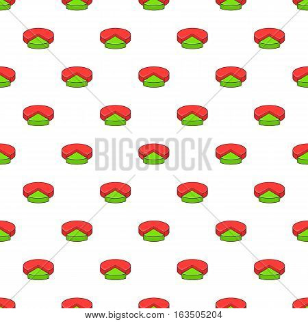 Colorful pie graphic chart pattern. Cartoon illustration of colorful pie graphic chart vector pattern for web