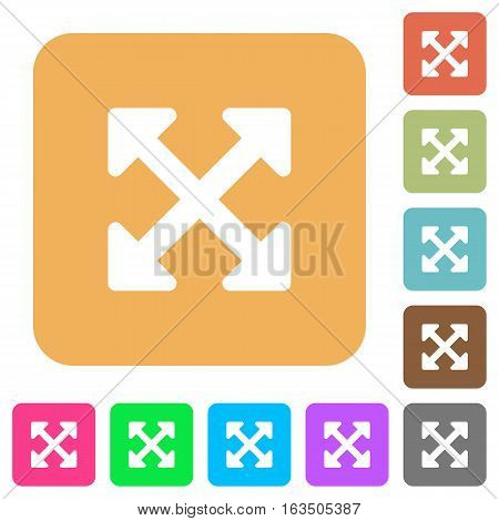 Resize full alt icons on rounded square vivid color backgrounds.