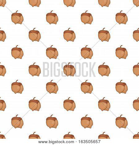 Acorns pattern. Cartoon illustration of acorn vector pattern for web