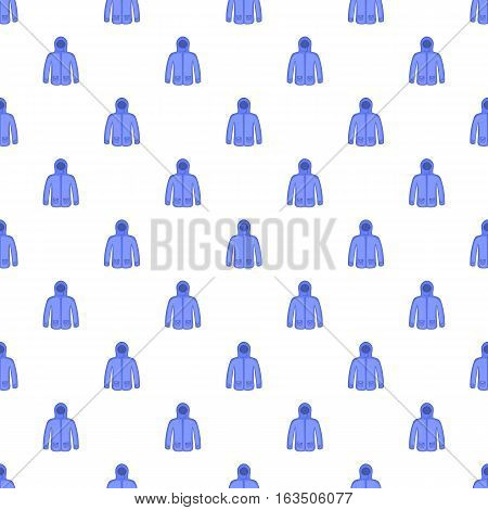 Jacket with hood pattern. Cartoon illustration of jacket with hood vector pattern for web