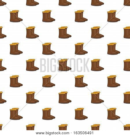 Winter shoes pattern. Cartoon illustration of winter shoes vector pattern for web