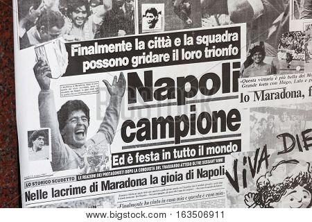 On 1987 Napoli Wins The Italian Cup With Maradona