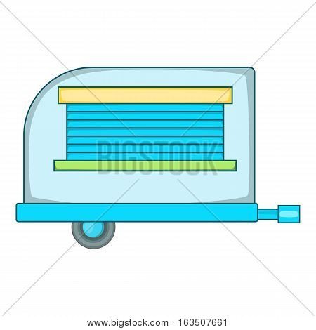 Old trailer icon. Cartoon illustration of old trailer vector icon for web design