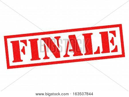 FINALE red Rubber Stamp over a white background.