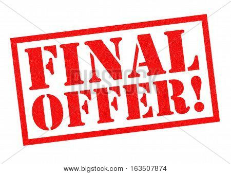 FINAL OFFER! red Rubber Stamp over a white background.