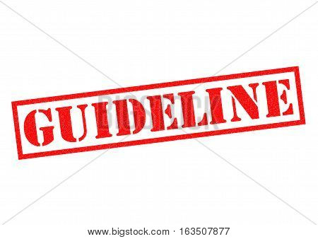 GUIDELINE red Rubber Stamp over a white background.