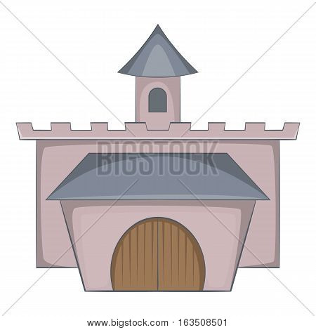 Medieval palace icon. Cartoon illustration of castle vector icon for web design