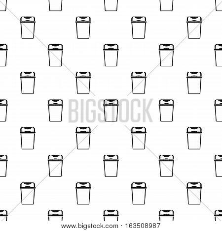 Trash bin pattern. Simple illustration of trash bin vector pattern for web