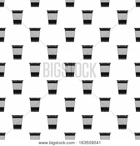 Plastic waste bin pattern. Simple illustration of plastic waste bin vector pattern for web
