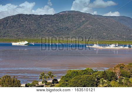 view of Cairns habour in Queensland Australia