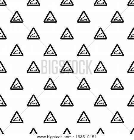 Sign sliding bridge pattern. Simple illustration of sign sliding bridge vector pattern for web