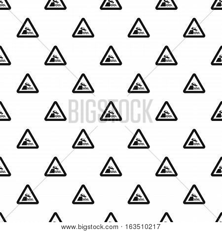 Sign in front of cliff pattern. Simple illustration of sign in front of cliff vector pattern for web