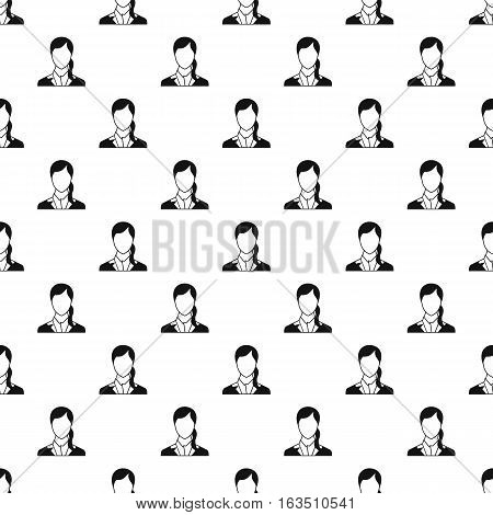 Woman with ponytail avatar pattern. Simple illustration of woman with ponytail avatar vector pattern for web