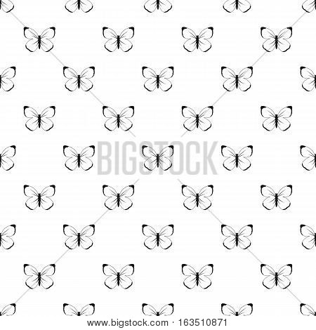 Butterfly with big wings pattern. Simple illustration of butterfly with big wings vector pattern for web