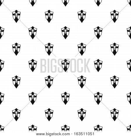Combat shield with ornamentation pattern. Simple illustration of combat shield with ornamentation vector pattern for web