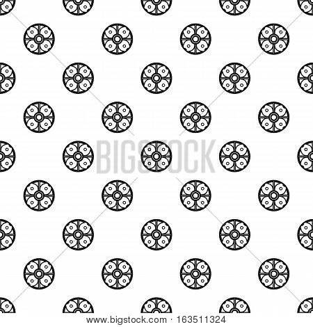 Round battle shield pattern. Simple illustration of round battle shield vector pattern for web