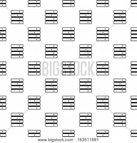 Data storage pattern. Simple illustration of data storage vector pattern for web