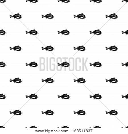 Saltwater fish pattern. Simple illustration of saltwater fish vector pattern for web