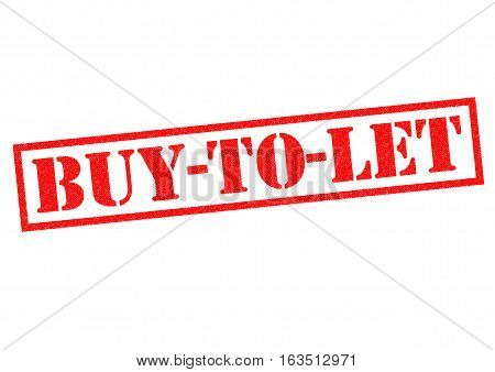 BUY-TO-LET red Rubber Stamp over a white background.