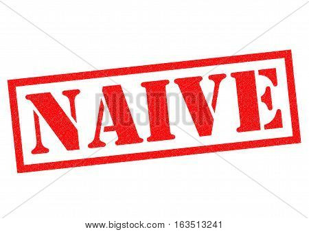 NAIVE red Rubber Stamp over a white background.