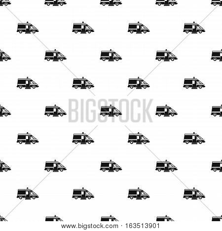 Ambulance pattern. Simple illustration of ambulance vector pattern for web