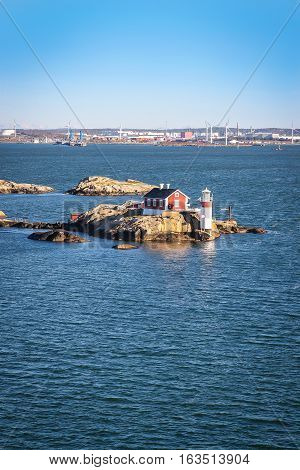 Lighthouse In Gothenburg Archipelago