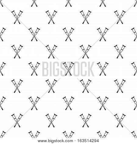 Crutches pattern. Simple illustration of crutches vector pattern for web