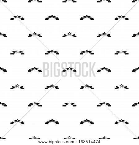 Round bridge pattern. Simple illustration of round bridge vector pattern for web
