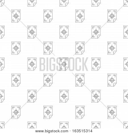 Test printed sheet pattern. Simple illustration of test printed sheet vector pattern for web
