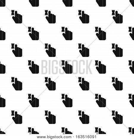 Cursor hand in anticipation pattern. Simple illustration of cursor hand in anticipation vector pattern for web