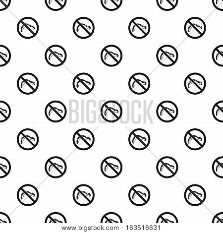 Prohibition sign caterpillar pattern. Simple illustration of prohibition sign caterpillar vector pattern for web