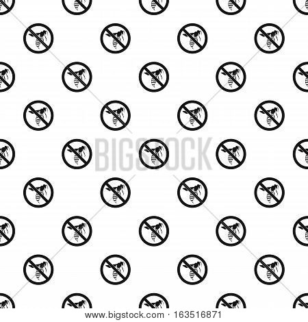 Prohibition sign wasps pattern. Simple illustration of prohibition sign wasps vector pattern for web