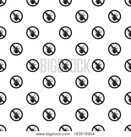 Prohibition sign clamp pattern. Simple illustration of prohibition sign clamp vector pattern for web