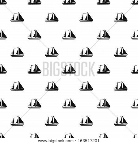 Yacht pattern. Simple illustration of yacht vector pattern for web