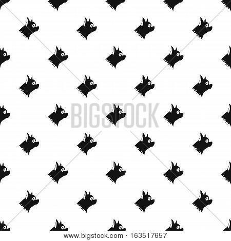 Pinscher dog pattern. Simple illustration of pinscher dog vector pattern for web