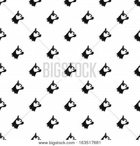 Pug dog pattern. Simple illustration of pug dog vector pattern for web