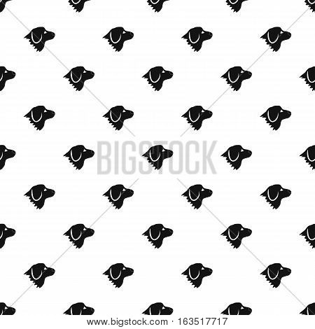 Retriever dog pattern. Simple illustration of retriever dog vector pattern for web