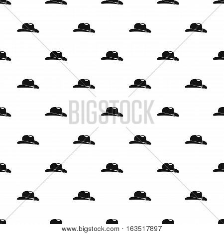 Cowboy hat pattern. Simple illustration of cowboy hat vector pattern for web