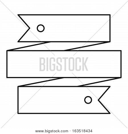 Long ribbon icon. Outline illustration of long ribbon vector icon for web