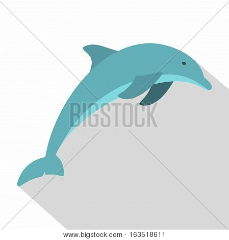 Dolphin icon. Flat illustration of dolphin vector icon for web