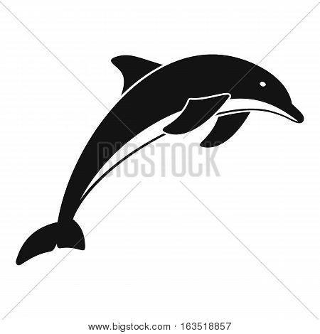 Dolphin icon. Simple illustration of dolphin vector icon for web