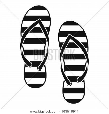 Flip flop icon. Simple illustration of flip flop vector icon for web