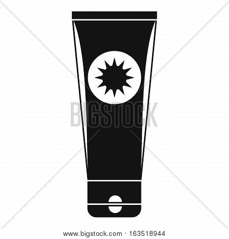 Sunscreen icon. Simple illustration of sunscreen vector icon for web