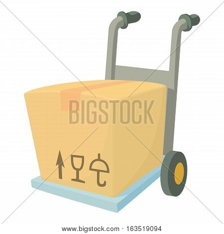 Carrying box icon. Cartoon illustration of carrying box vector icon for web