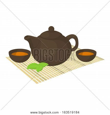 Tea ceremony icon. Cartoon illustration of tea ceremony vector icon for web