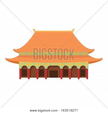 Pagoda temple icon. Cartoon illustration of pagoda temple vector icon for web